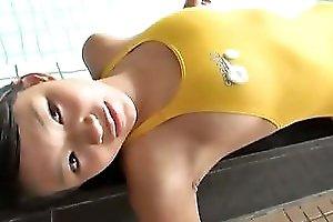 Svelte Japanese Chick Aika Sakuragi Is Having Fun In The Pool