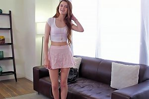 Elegant Babe With Small Tits Gets Humped Till Orgasm At A Spicy Casting Shoot